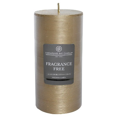 Fragrance Free Pillar Candle Gold 6 x3  - Chesapeake Bay Candle®