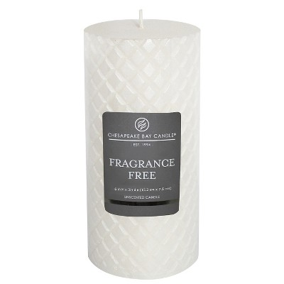 Fragrance Free Pillar Candle Pearl 6 x3  - Chesapeake Bay Candle®