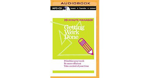 Getting Work Done (Unabridged) (MP3-CD) - image 1 of 1