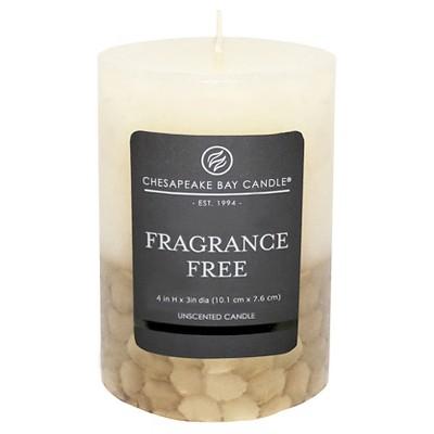 Fragrance Free Pillar Candle Ivory/Gold 4 x3  - Chesapeake Bay Candle®