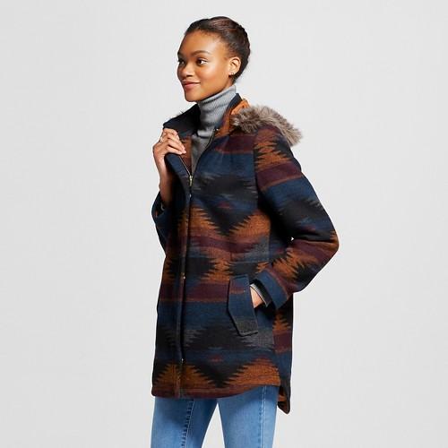 Women's Blanket Coat Orange S - Mossimo Supply Co., Multi-Colored
