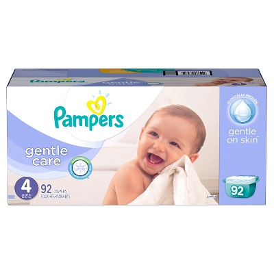 Pampers Gentle Care Diapers Giant Pack - Size 4 (92 ct)