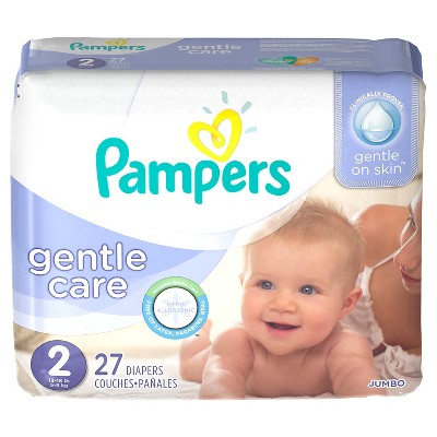 Pampers Gentle Care Diapers Jumbo Pack - Size 2 (27 ct)