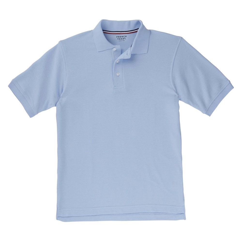 French Toast Boys Short Sleeved Pique Polo - Light Blue Xxl, Lite Blue