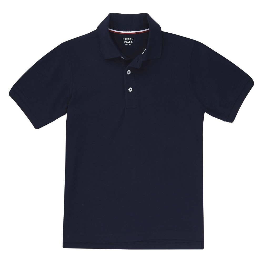 French Toast Boys Short Sleeved Pique Polo - Navy (Blue) S