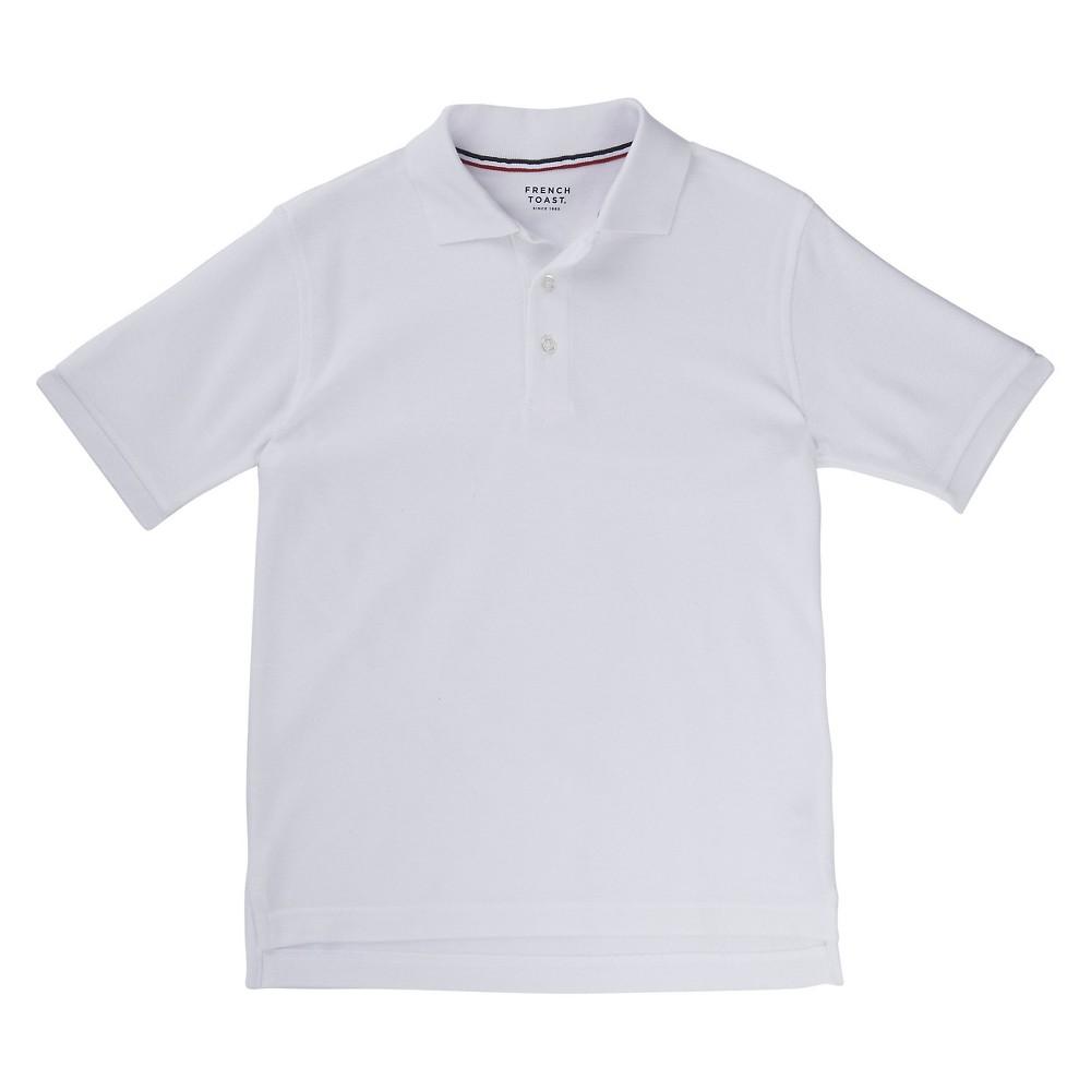 French Toast Boys Short Sleeved Pique Polo - White XL