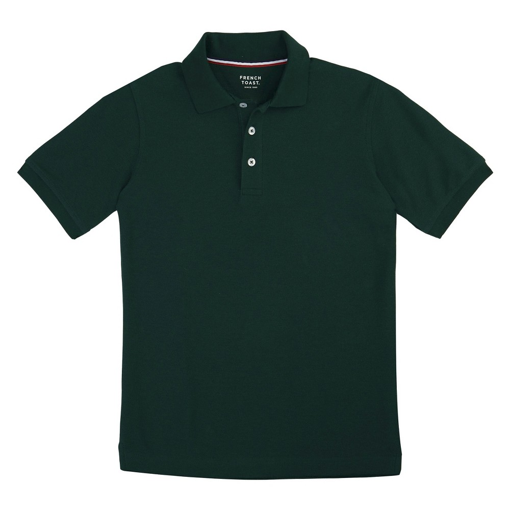 French Toast Boys Short Sleeved Pique Polo - Green L
