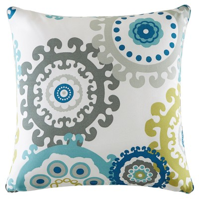 Marina Printed Medallion 3M Scotchgard Outdoor Pillow Coral/Multi - 26x26