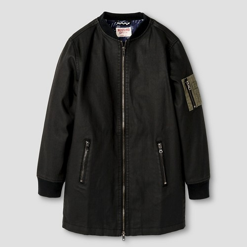 Boys' Long Length Bomber Jacket Black XS - Mossimo Supply Co., Boy's