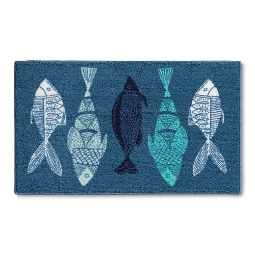Blue Fish Kitchen Rug - Threshold™ : Target