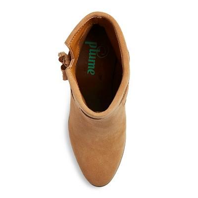 Women's Plume by Faryl Robin Georgie Suede Tassel Boots - Cashew 9.5