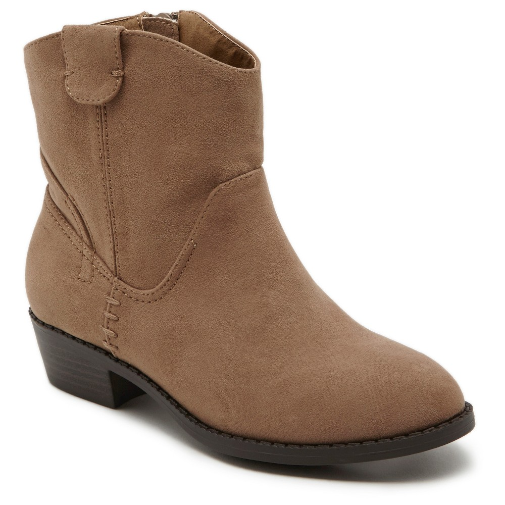 Girls Revel Dakota Western Boots -Taupe 6, Brown