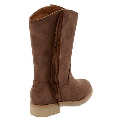 Girls' Revel Dacia Tall Fringe Western Boots - Chestnut 2, Girl's, Brown