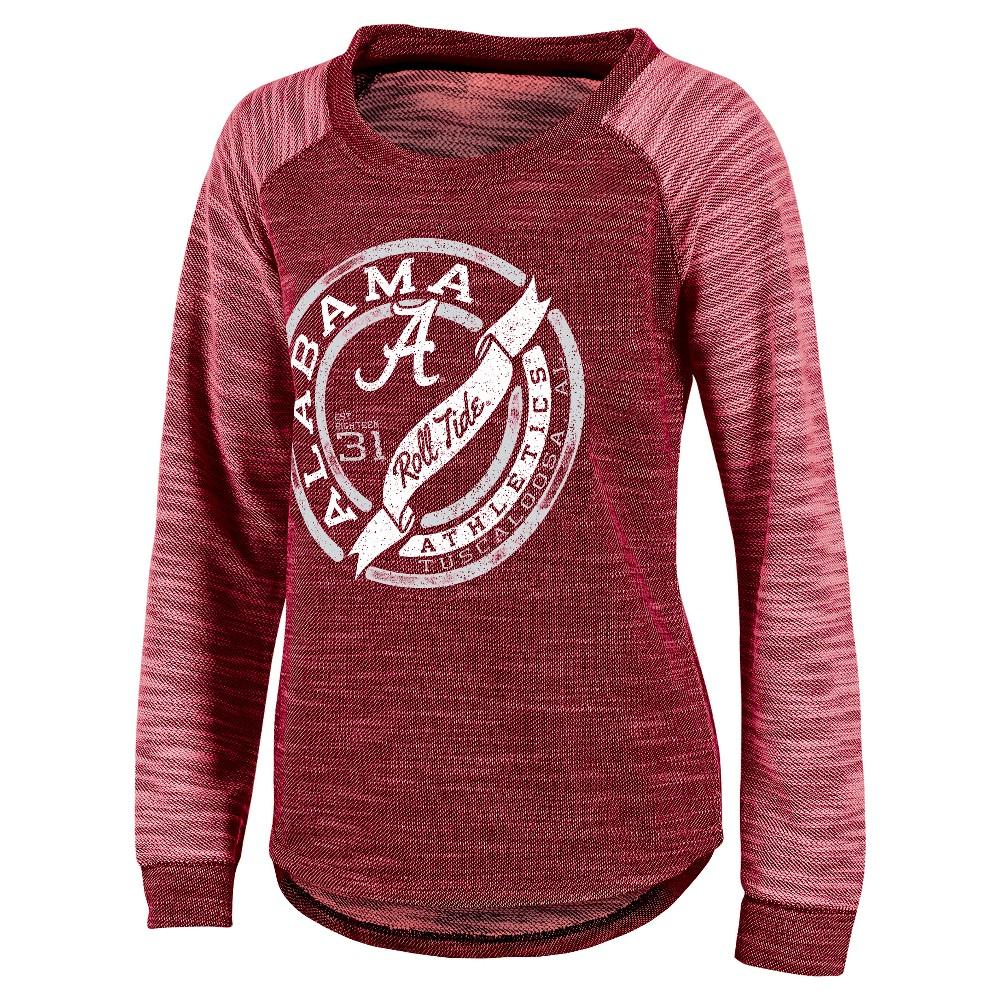 NCAA Alabama Crimson Tide Women's Raglan Long Sleeve Shirt - L, Multicolored