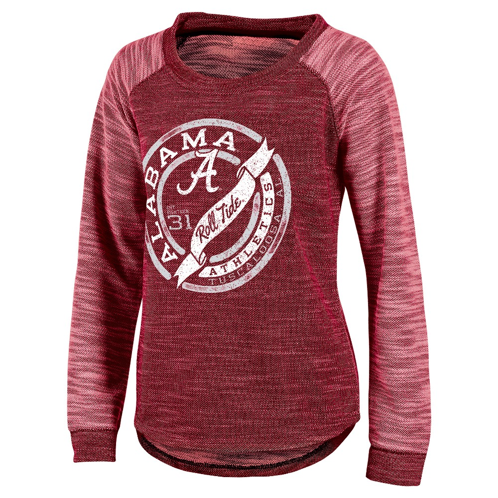 NCAA Alabama Crimson Tide Women's Raglan Long Sleeve Shirt - XL, Multicolored