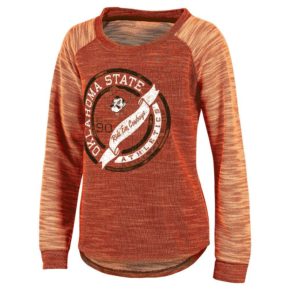 NCAA Oklahoma State Cowboys Women's Raglan Long Sleeve Shirt - XL, Multicolored