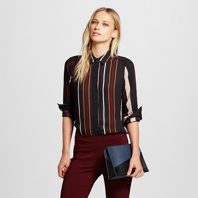 05c5633e456c Womens Pajama Button Down Shirts Black Stripe S – Who What Wear ...