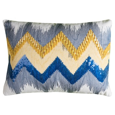 Chevron Throw Pillow - (13x18)- Rizzy Home