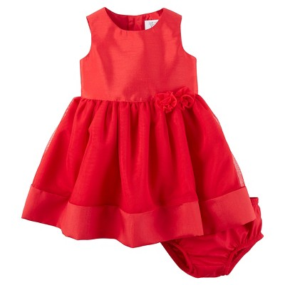Just One You™ Made by Carter's® Baby Girls' Silk Rosette Dress - Red 3M