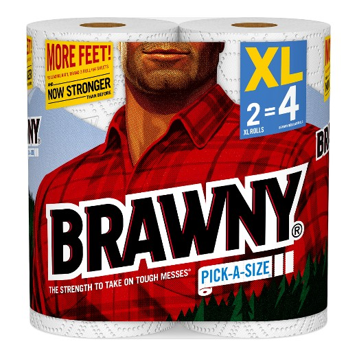 Brawny 174 Xl Paper Towels Pack Of 2 Target
