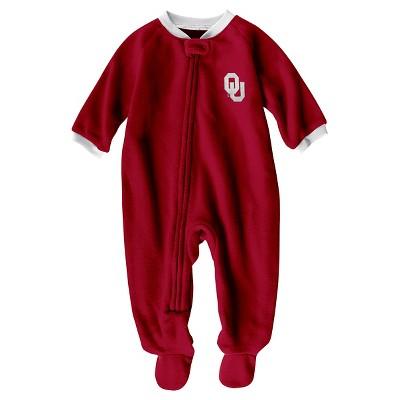NCAA Oklahoma Sooners Boys' Footed Sleeper - 0-3 M