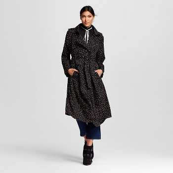 Who What Wear Womens Drapey Trench Coat