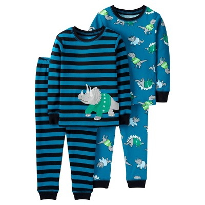 Just One You™ Made by Carter's® Baby Boys' 4pc Dino Stripe Cotton Pajama Set - 9M