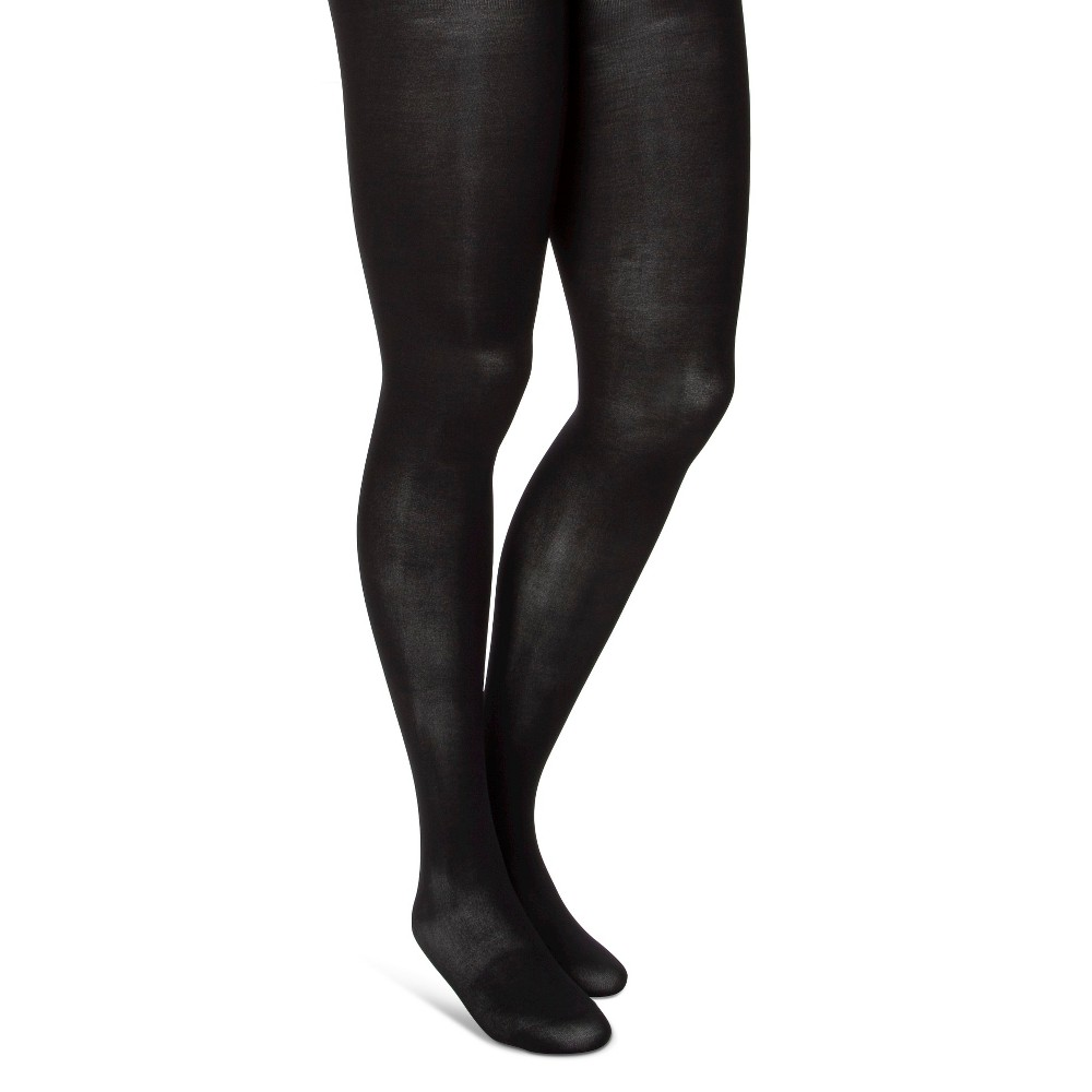 Women's Maternity Tights Opaque 50 Denier Black 2 Pack 1X – Merona, Size: S/M