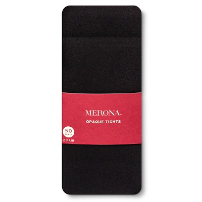 Women's Tights Opaque 50 Denier Black 2 Pack M/L - Merona™