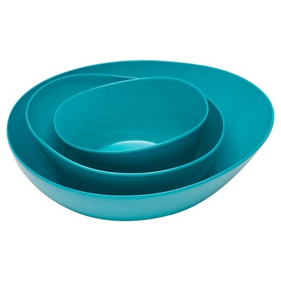 Zak! Moso Serve Bowl Azure - Set of 3