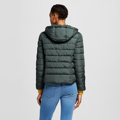 Women's Puffer Jacket Pacific Pine XL - Mossimo Supply Co.