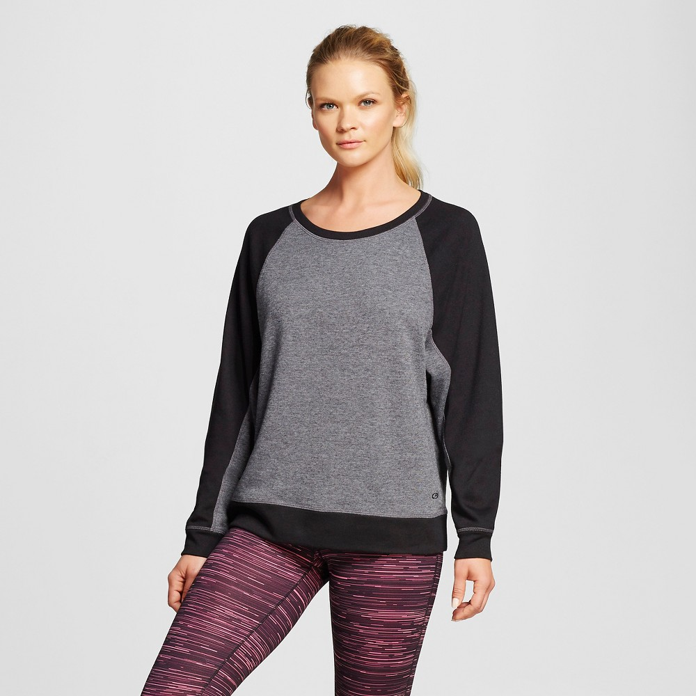 Women's Activewear Sweatshirt - Black Heather L - C9 Champion