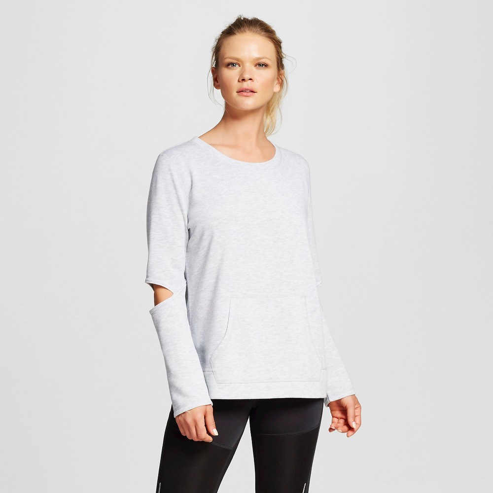 Women's Activewear Sweatshirt - Heather Gray L - C9 Champion, Heather Grey