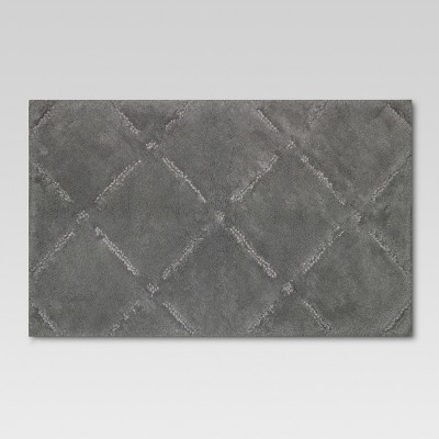 Ultra Soft Bath Rug - Gray Stone - Threshold™