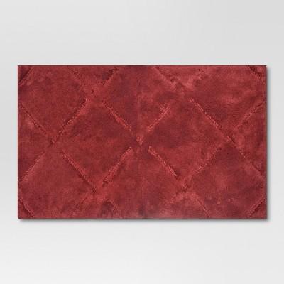 Ultra Soft Bath Rug Wave Dark Red (20 x34 )- Threshold™