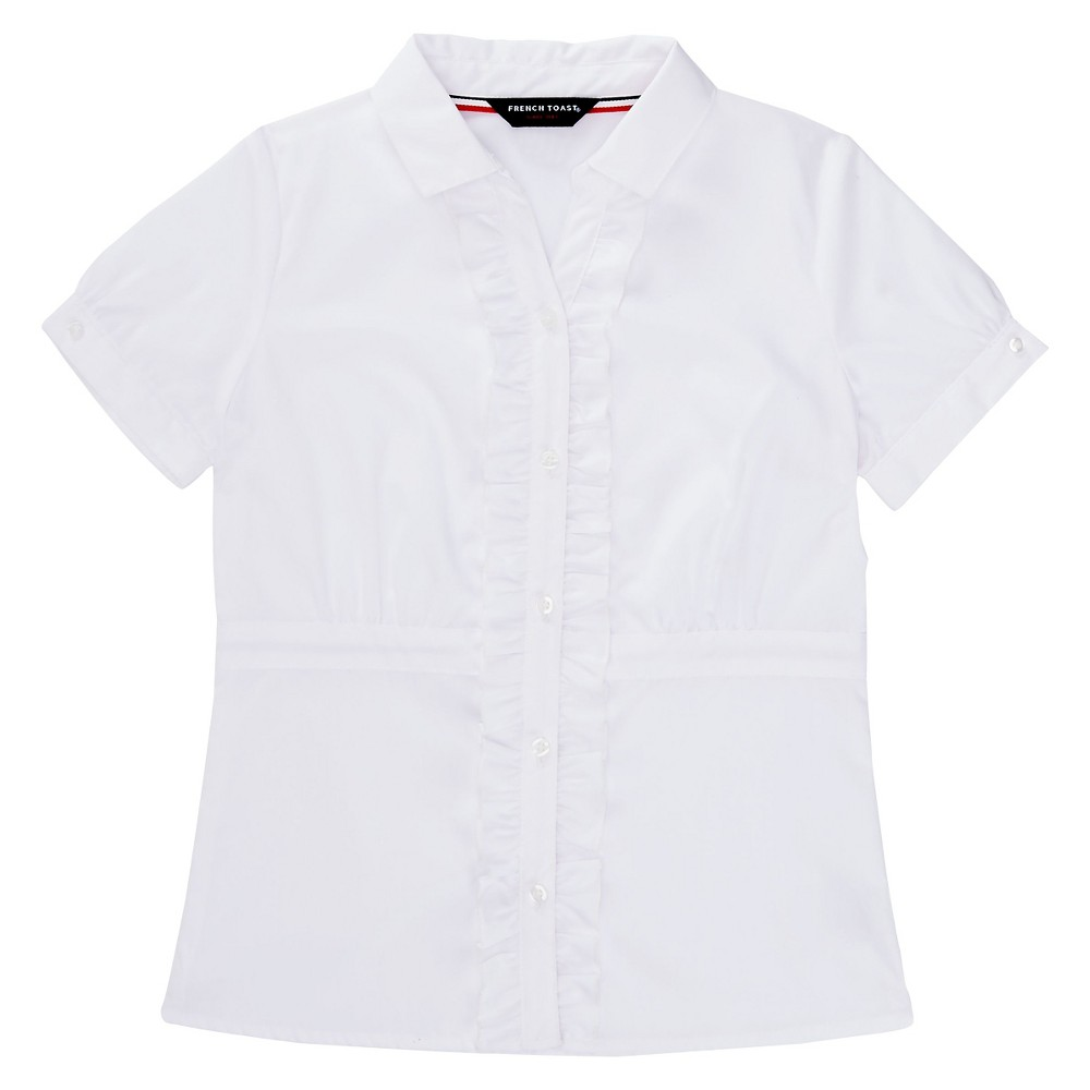 French Toast Girls Cinched Blouse 8 - White