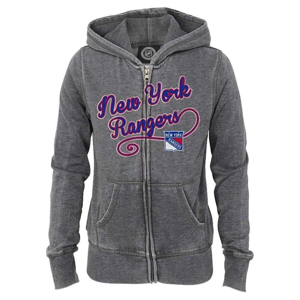 New York Rangers Girls' Zip Up Hoodie Sweatshirt S