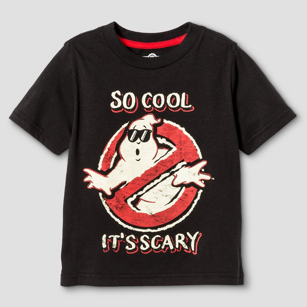Ghostbusters Toddler Boys Cool Ghostie T-Shirt 4T - Black