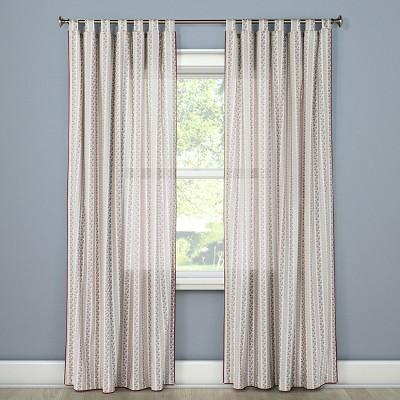 Darby Way Curtain Panel Beige (54 x95 )Beekman 1802 FarmHouse™