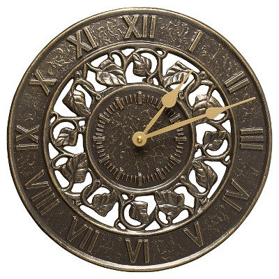 Ivy Silhouette Clock - French Bronze - Whitehall Products