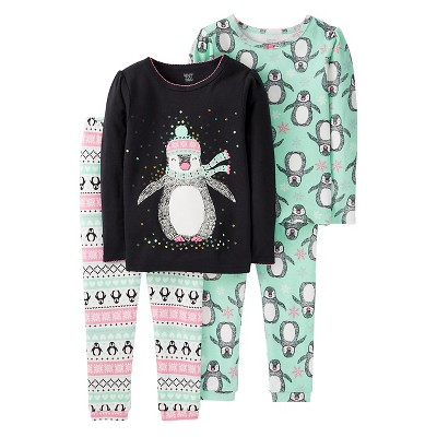 Just One You™ Made by Carter's® Baby Girls' 4pc Penguin Fairisle Cotton Pajama Set - 9M