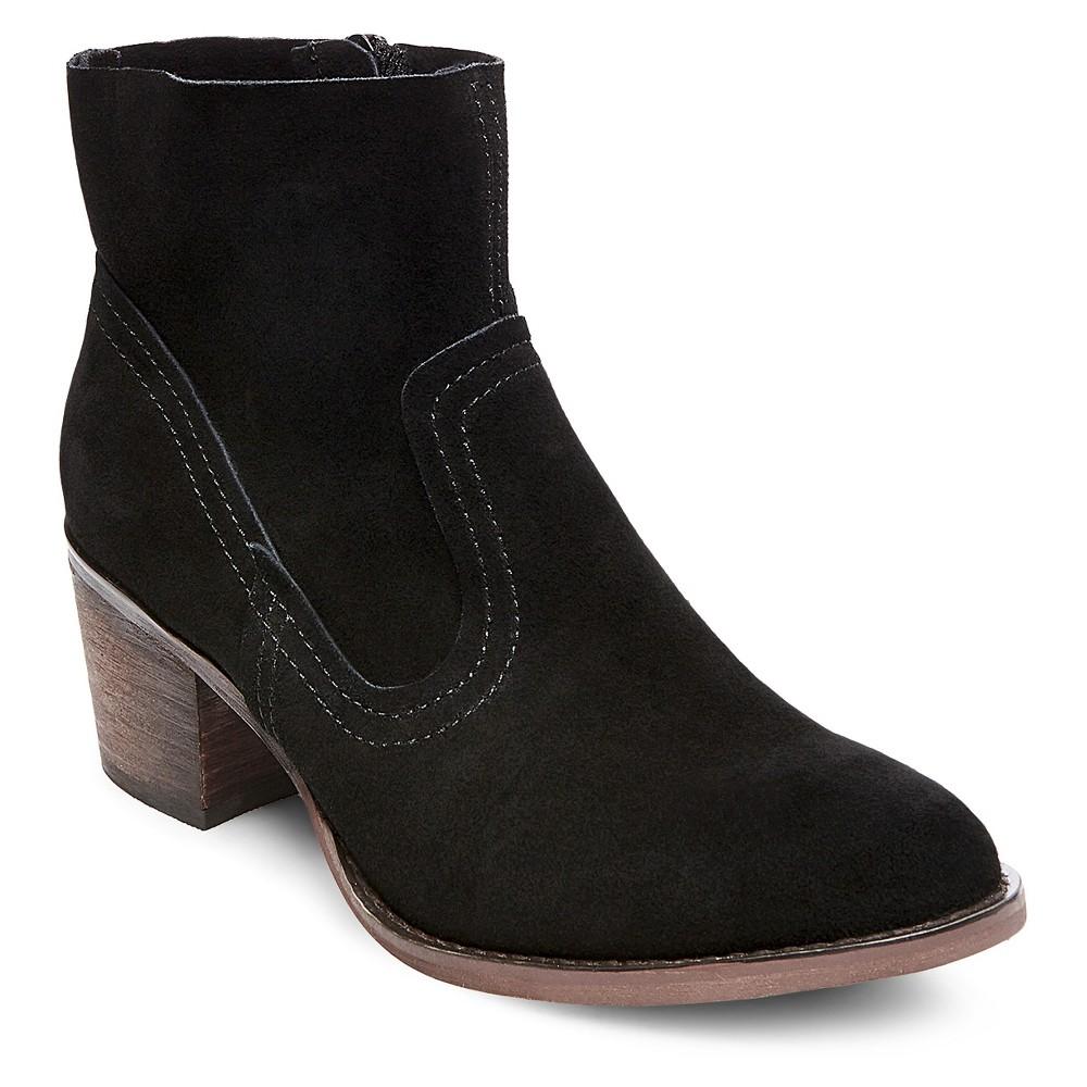 Womens Soho Cobbler Fields Suede Booties - Black 6