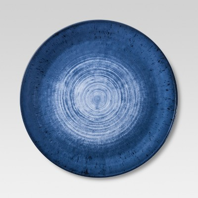 melamine dinner plates metallic blue set of 4 threshold - Melamine Dinner Plates