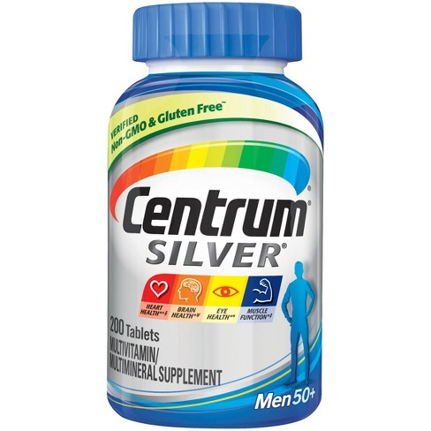 Centrum® Silver® Men 50+ Multivitamin Dietary Supplement Tablets - 200ct - image 1 of 2