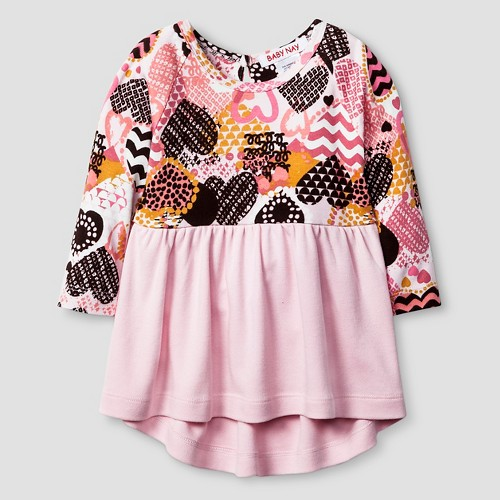 Baby Nay Baby Girls' Crazy Hearts Tunic Top - Pink 24M, Infant Girl's, Size: 24 M