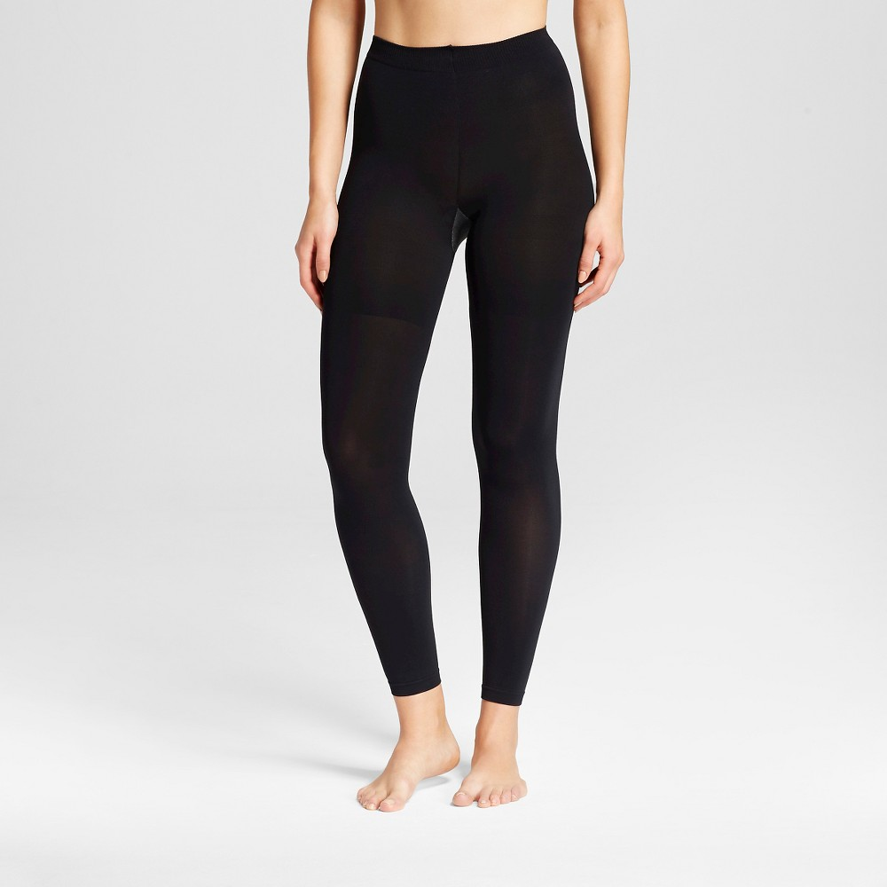 Assets by Spanx Women's Footless Shaping Tight Black 2