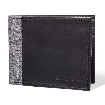 Swiss Gear Men's  Bifold Wallet - Heathered Black and Gray