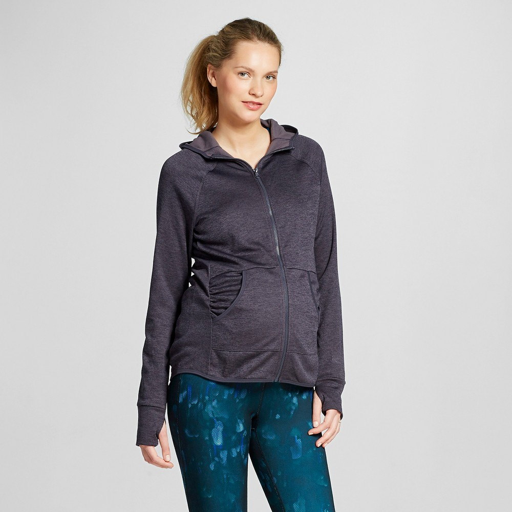 Womens Maternity Tech Fleece Full Zip Hoodie - C9 Champion Gray Heather L, Heather Gray