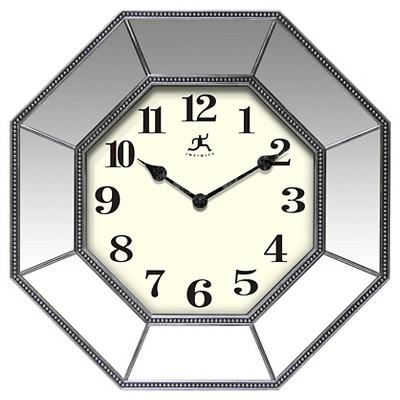 Infinity Instruments Estella Mirrored Decorative Clock