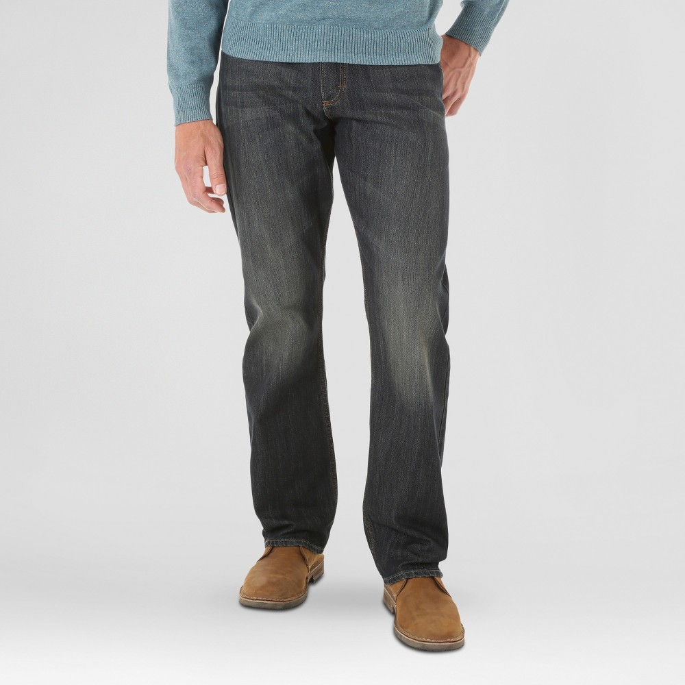 Mens Originals Relaxed Straight Fit Blue / Black 36x32 - Wrangler, Blue Black